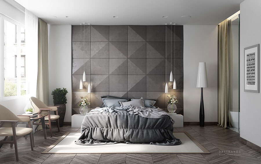 Ideas for decorating a gray bedroom n.05
