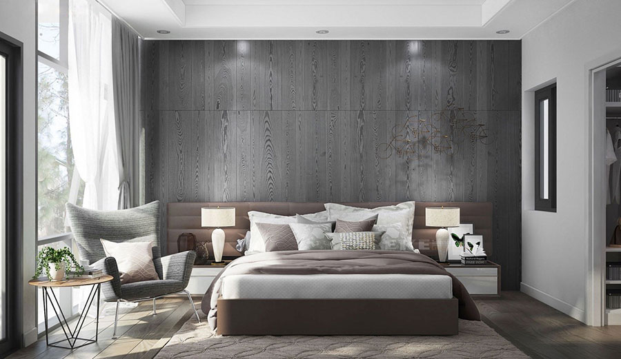 Ideas for decorating a gray bedroom # 18