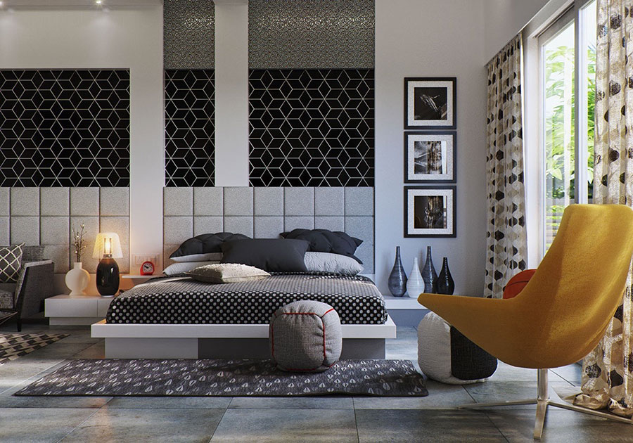 Ideas for decorating a gray bedroom # 20