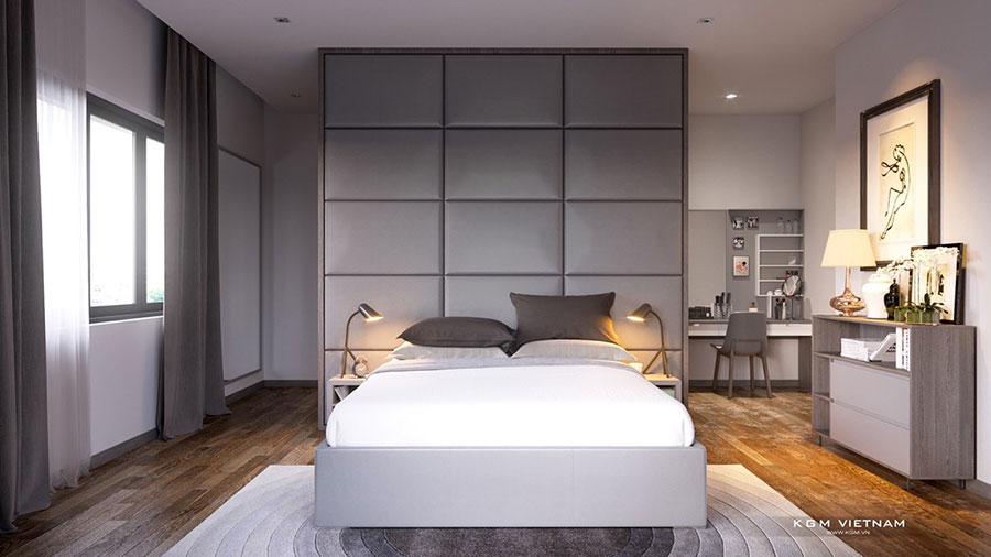 Ideas for decorating a gray bedroom # 12