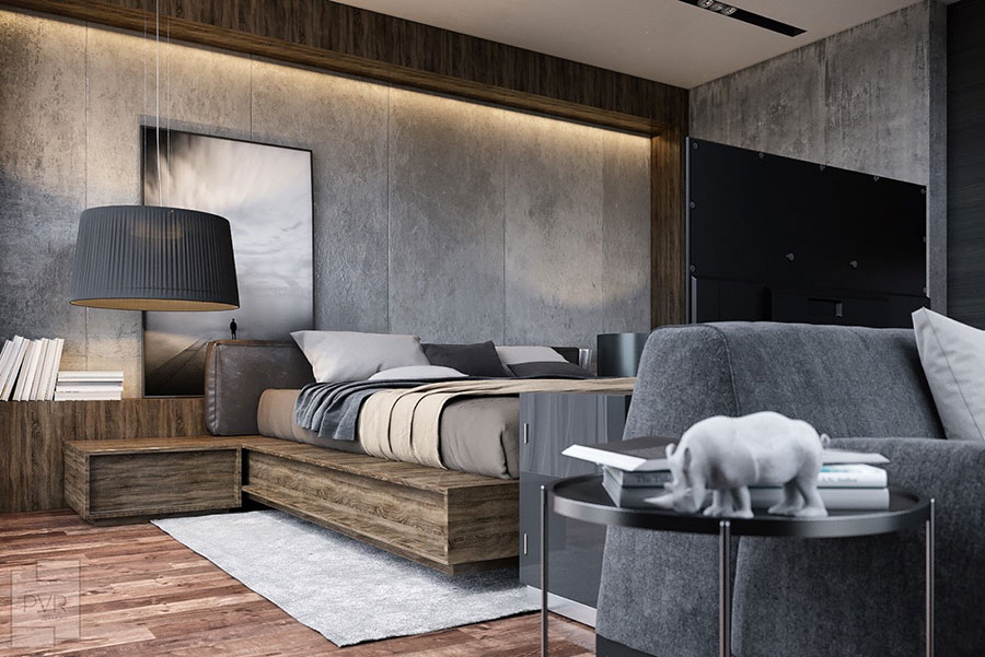 Ideas for decorating a gray bedroom # 06