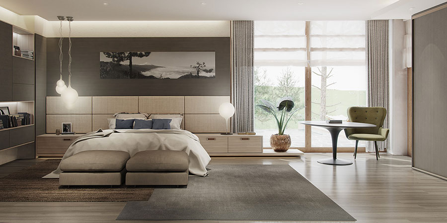 Ideas for decorating a gray bedroom # 19