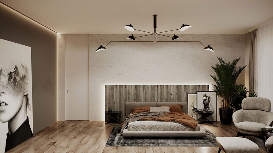 Pearl gray furniture for the bedroom n.01