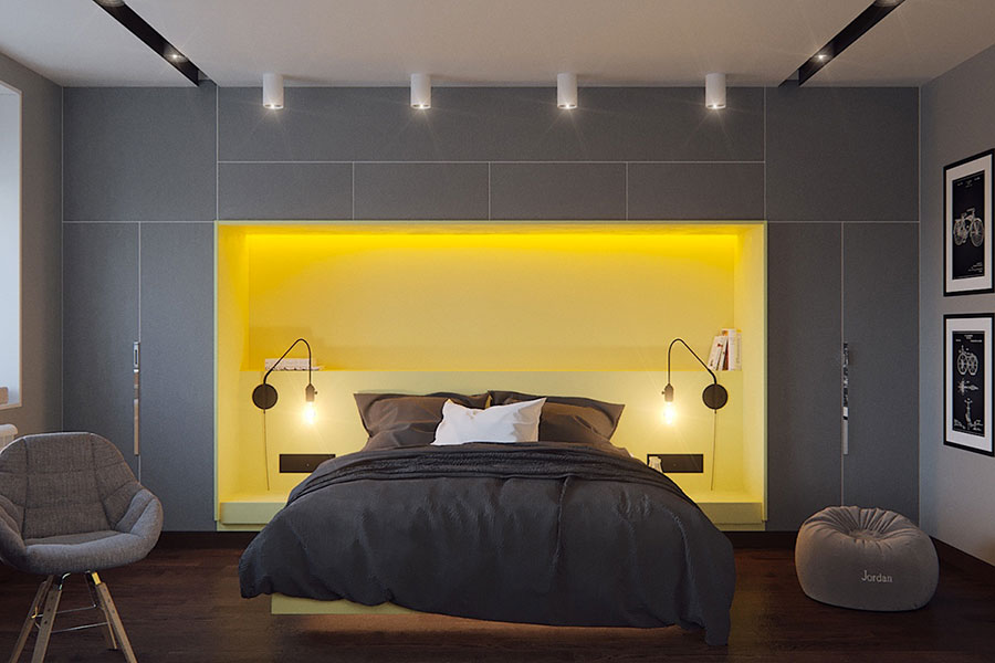 Ideas for decorating a gray bedroom # 09