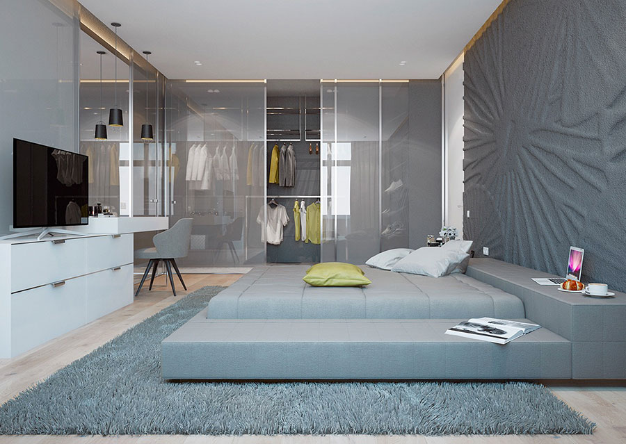 Ideas for decorating a gray bedroom # 13