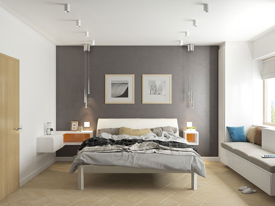 Ideas for decorating a gray bedroom # 14