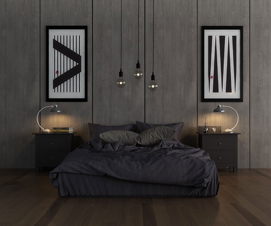 Ideas for decorating a gray bedroom # 17