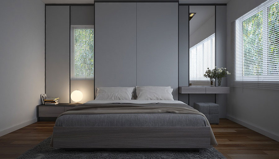 Ideas for decorating a gray bedroom # 15