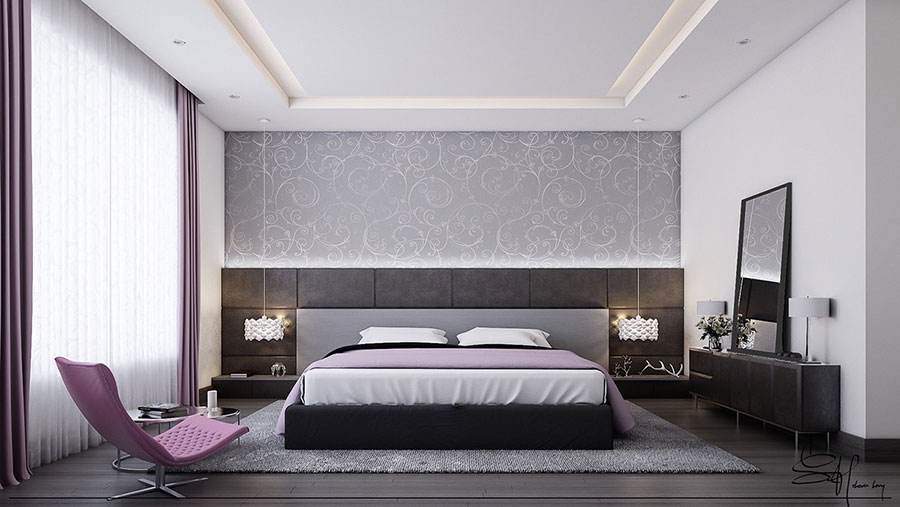 Ideas for decorating a gray bedroom # 07