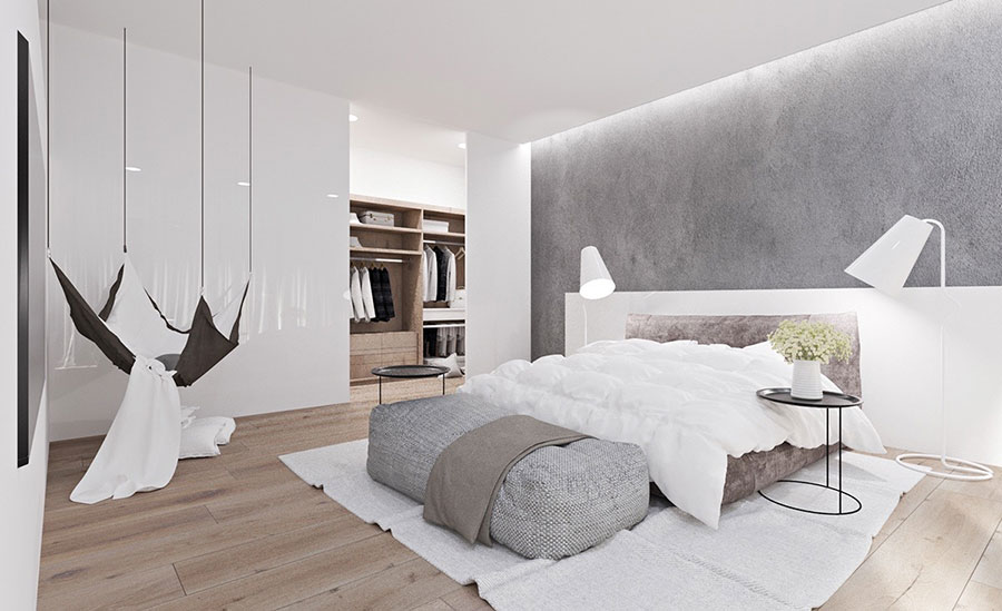 Gray and White Bedroom Decor Ideas # 01