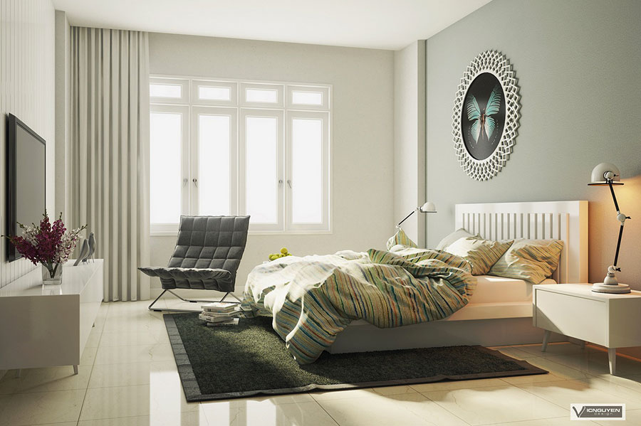 Pearl gray furniture for the bedroom n.06