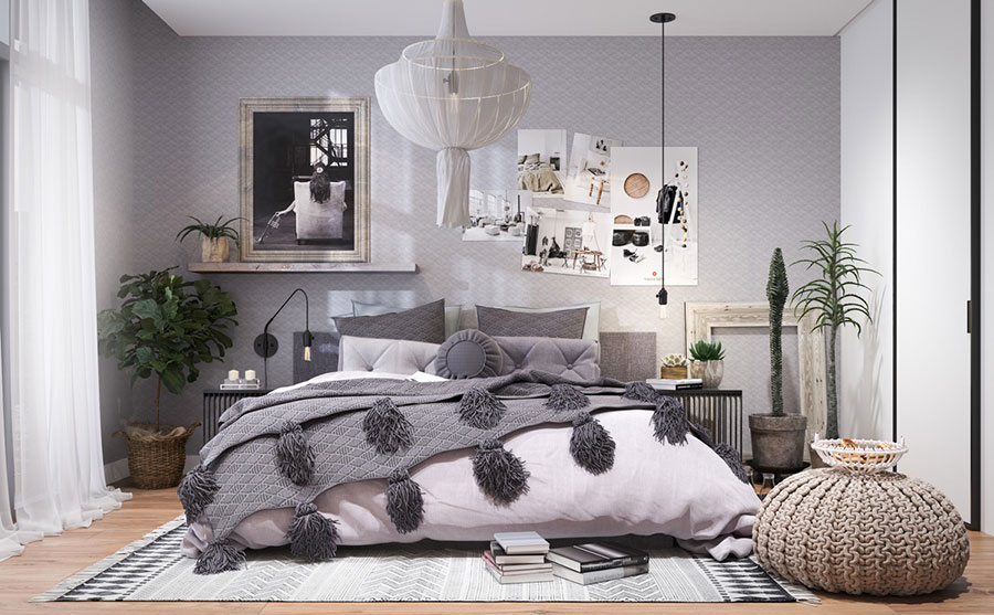 Pearl gray furniture for bedroom # 15