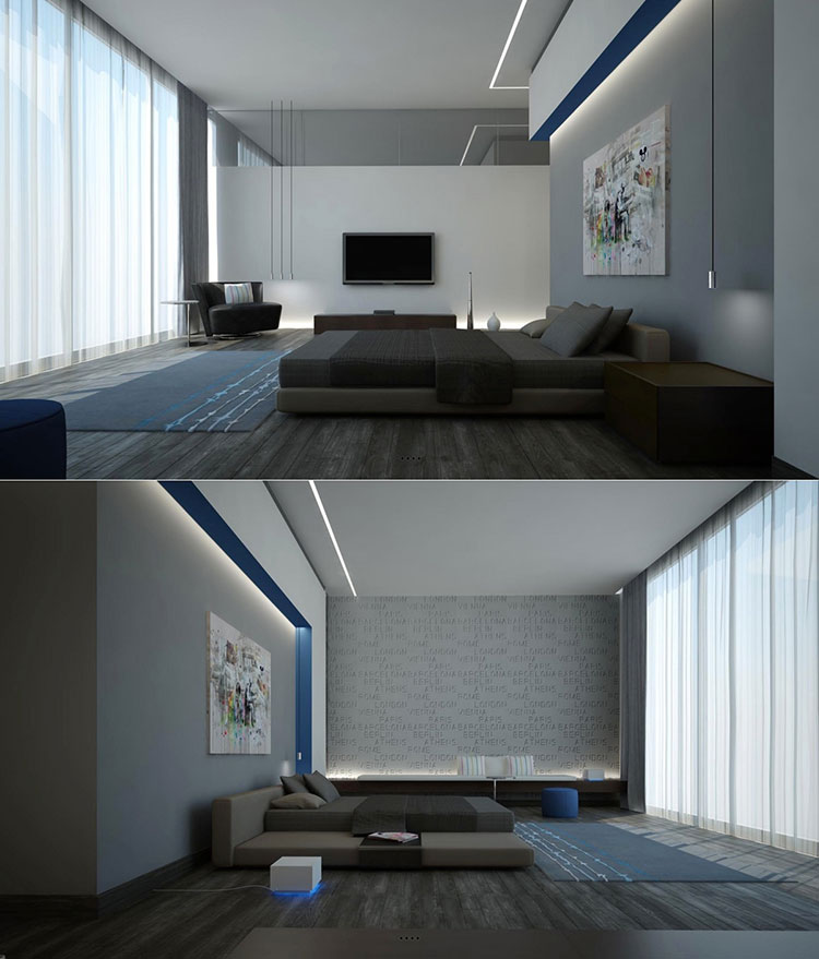 Pearl gray furniture for bedroom # 10