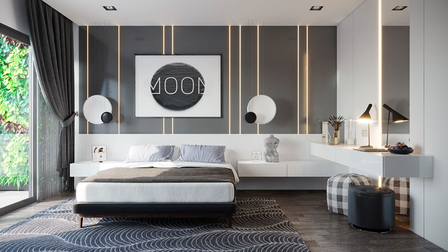 Pearl gray furniture for bedroom # 16