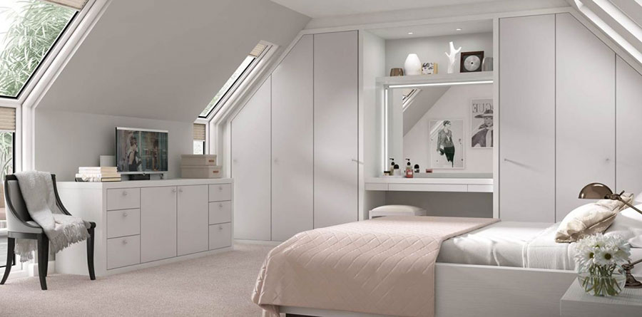 Pearl gray furniture for bedroom n.19