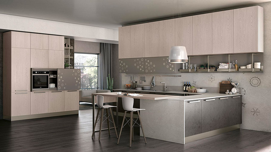 Kitchen model with snack top n.04