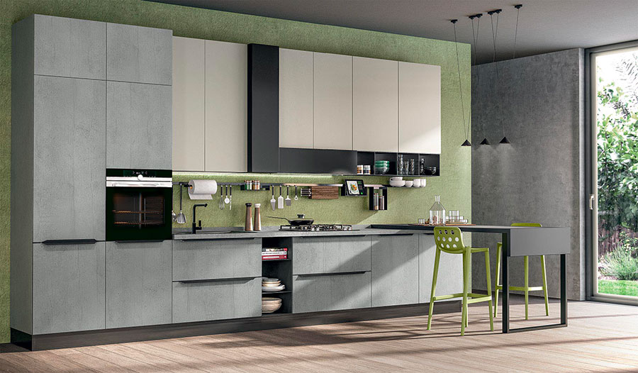 Kitchen model with snack table n.05