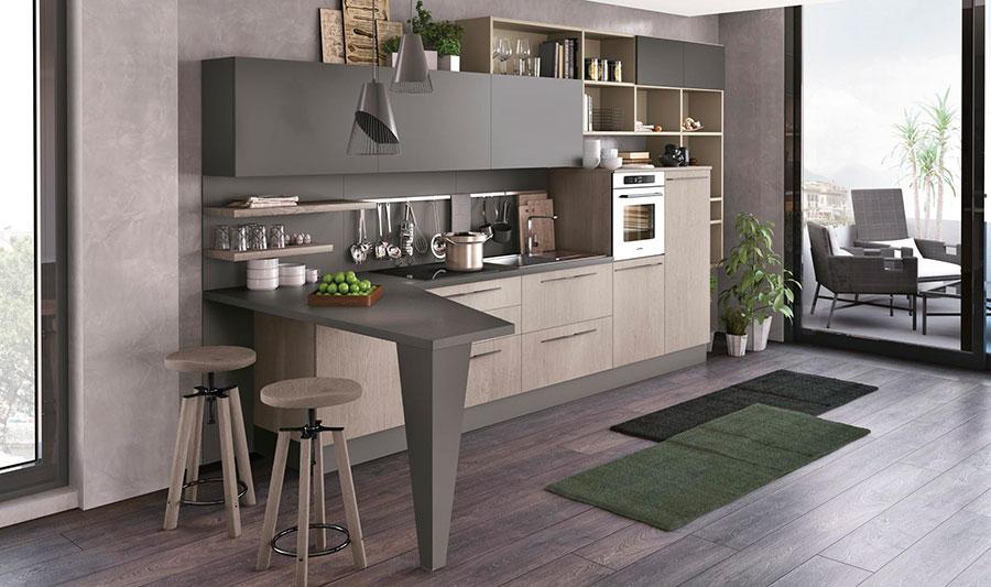 Kitchen model with snack corner n.03