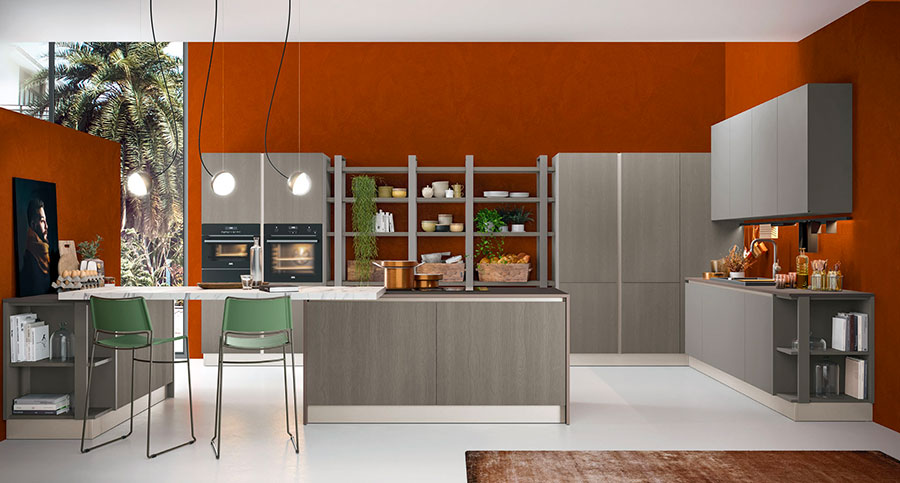 Kitchen model with snack counter n.02