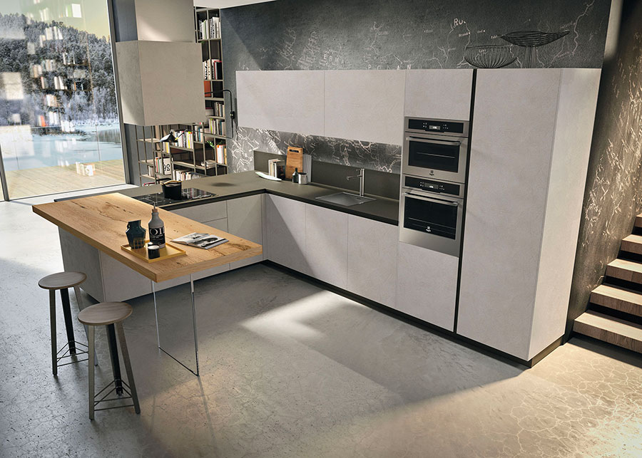 Kitchen model with snack top n.01
