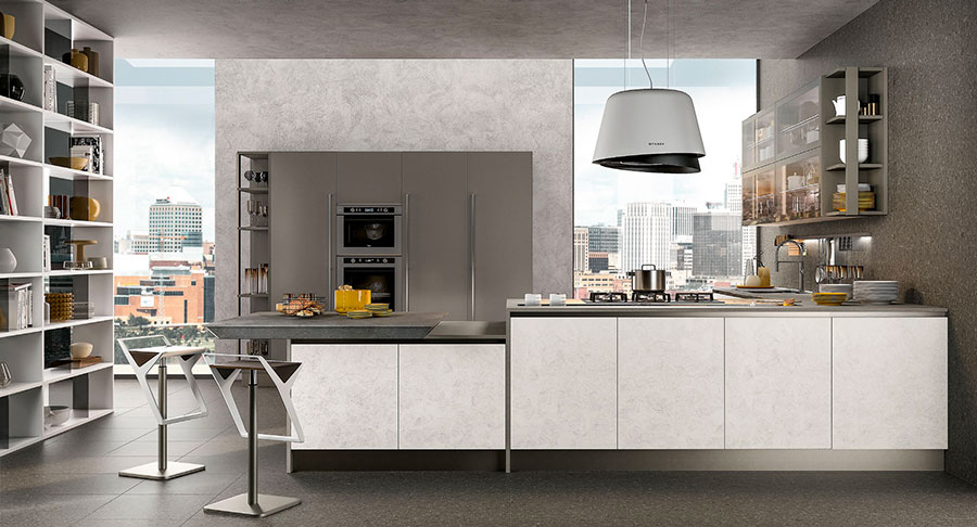 Kitchen model with snack top n.02