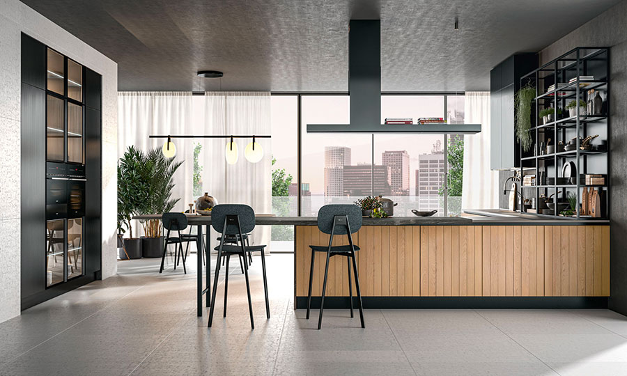 Kitchen model with snack top n.03