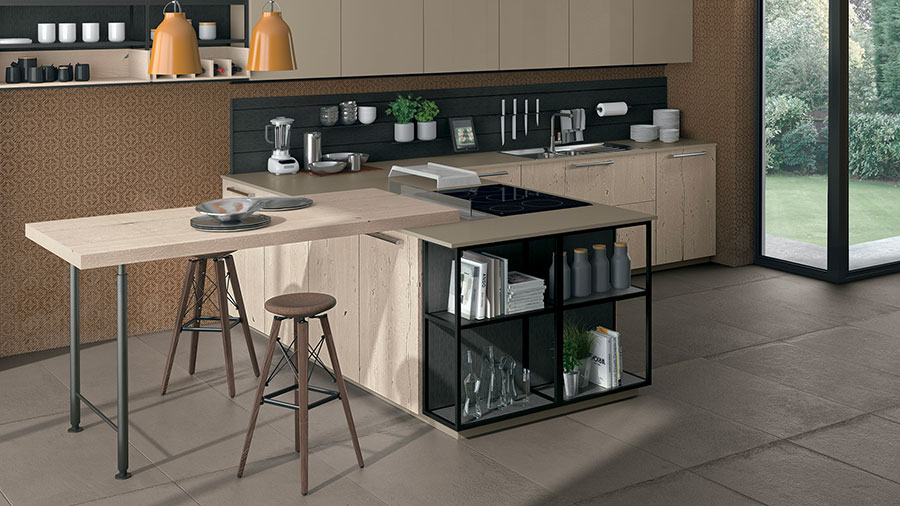 Kitchen model with snack table n.03
