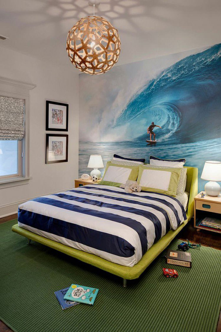 Kids bedroom with wall decorations n.12