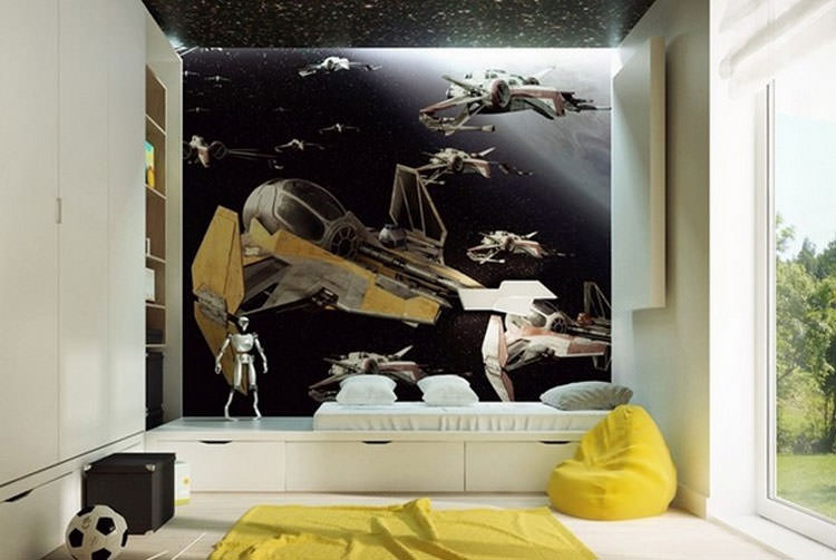 Kids bedroom with wall decorations n.17
