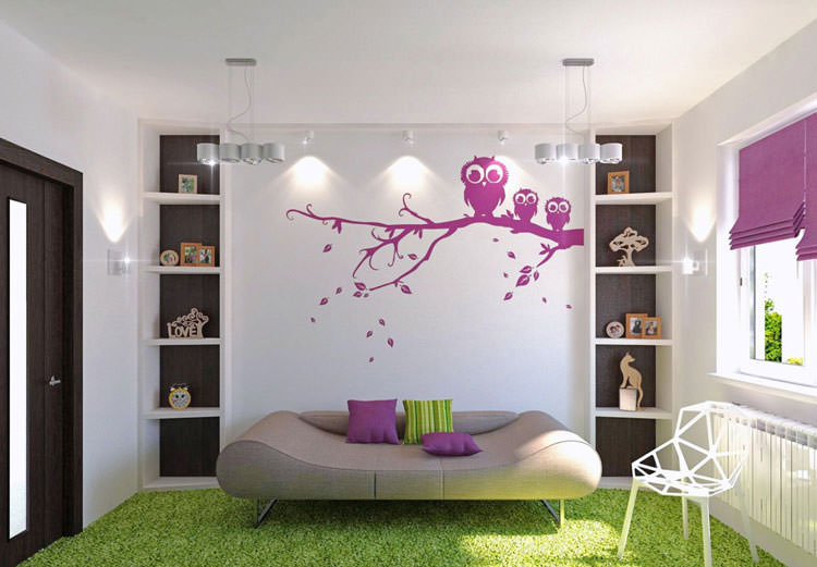 Children's bedroom with wall decorations n.15