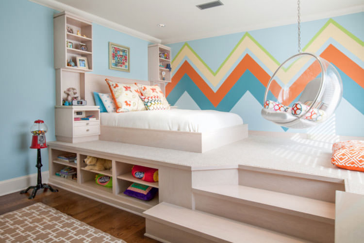 Kids bedroom with wall decorations n.10