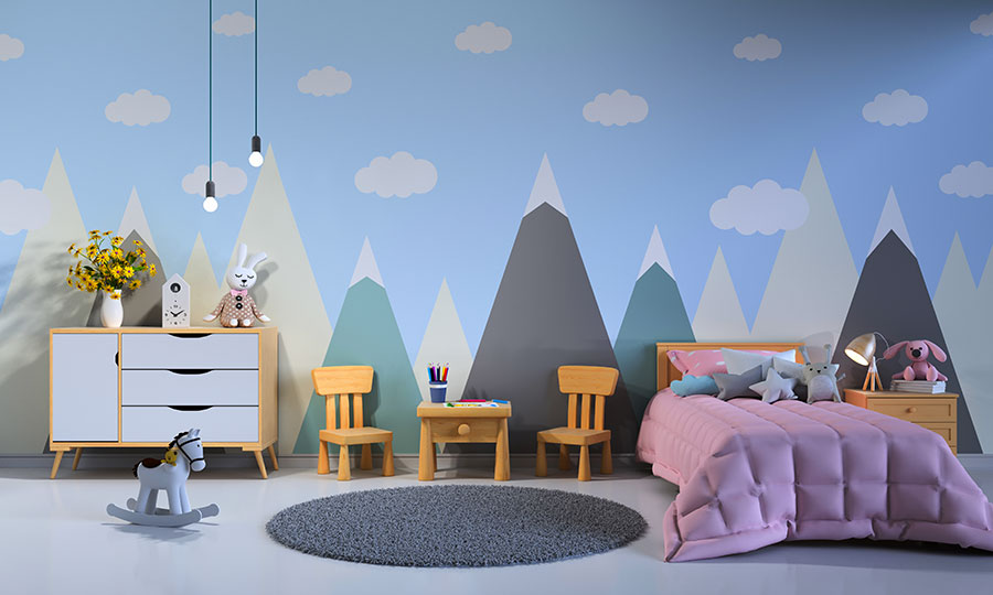 Ideas for bedrooms with decorated walls n.02