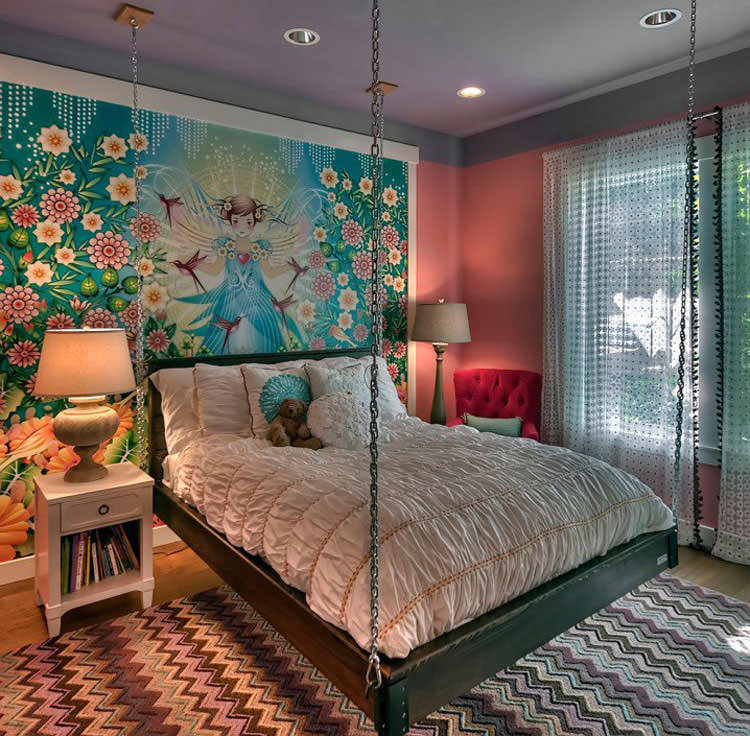 Kids bedroom with wall decorations n.13