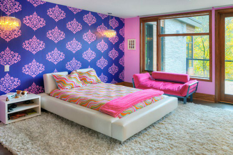 Kids bedroom with wall decorations n.09