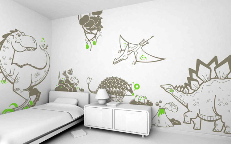 Kids bedroom with wall decorations n.06