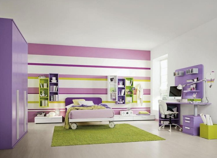 Kids bedroom with wall decorations n.07