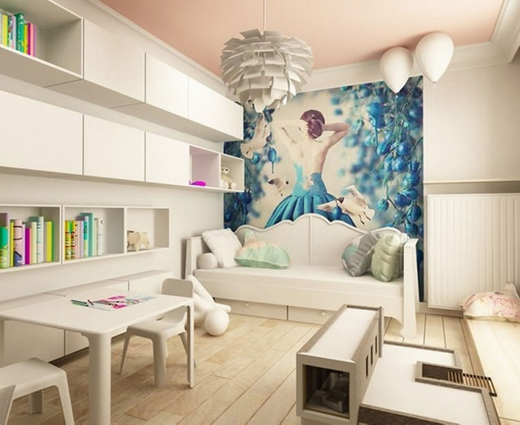 Kids bedroom with wall decorations n.27