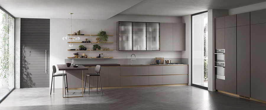 Kitchen model with open shelves n.02
