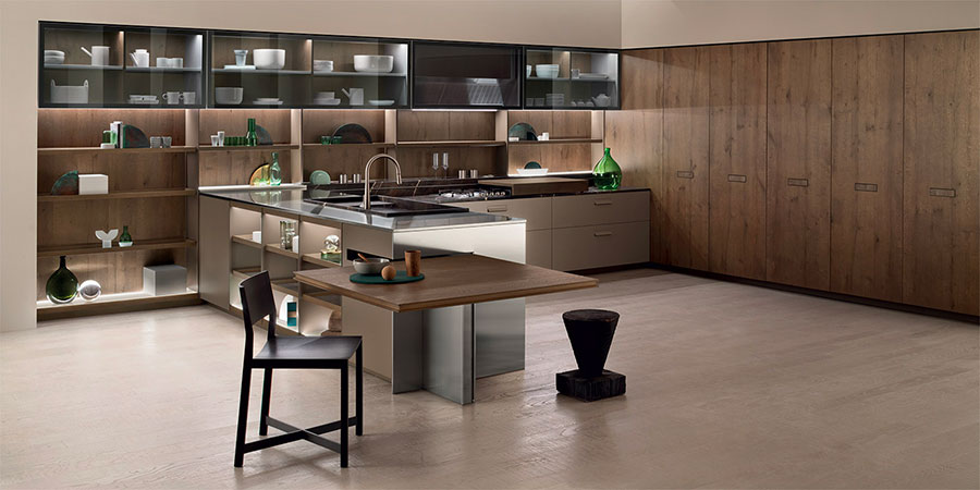 Kitchen model with open shelves n.15