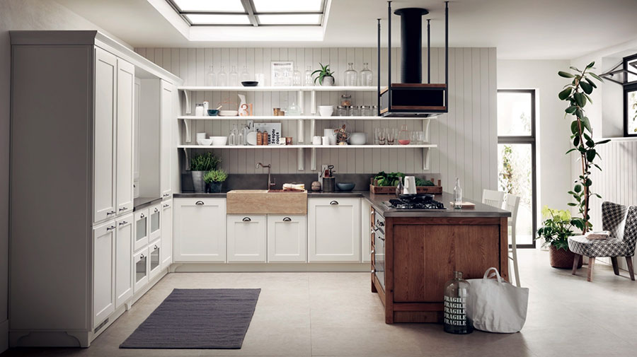 Kitchen model with open shelves n.10