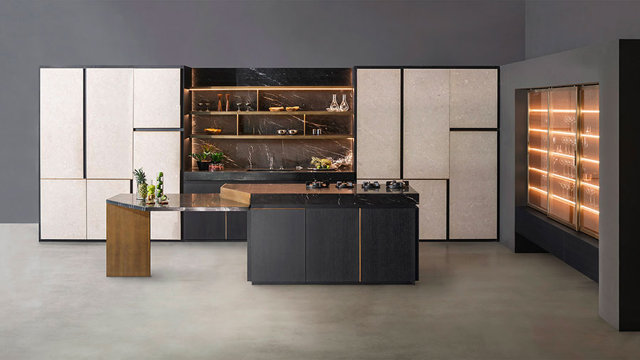 Kitchen model with open shelves n.19