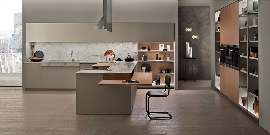 Kitchen model with open shelves n.17
