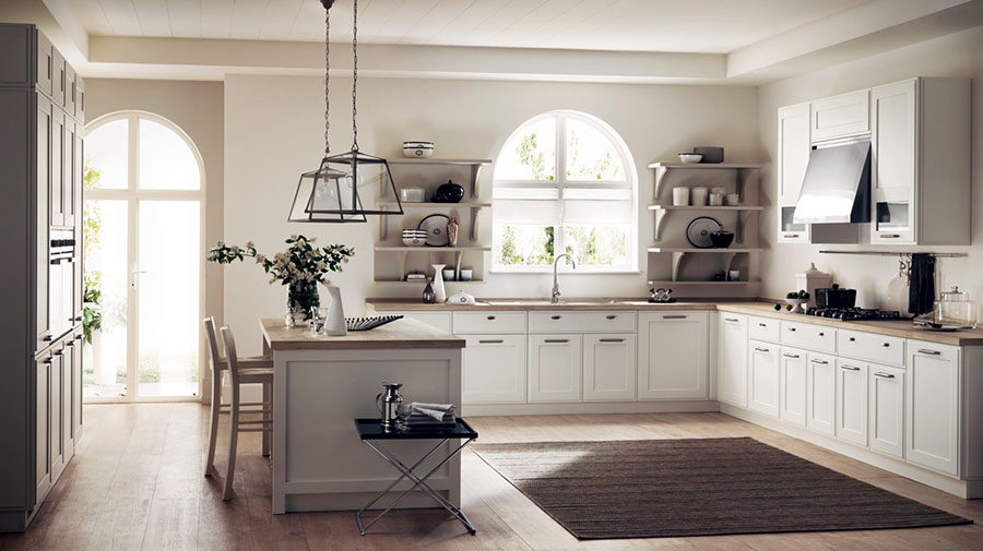 Kitchen model with open shelves n.11