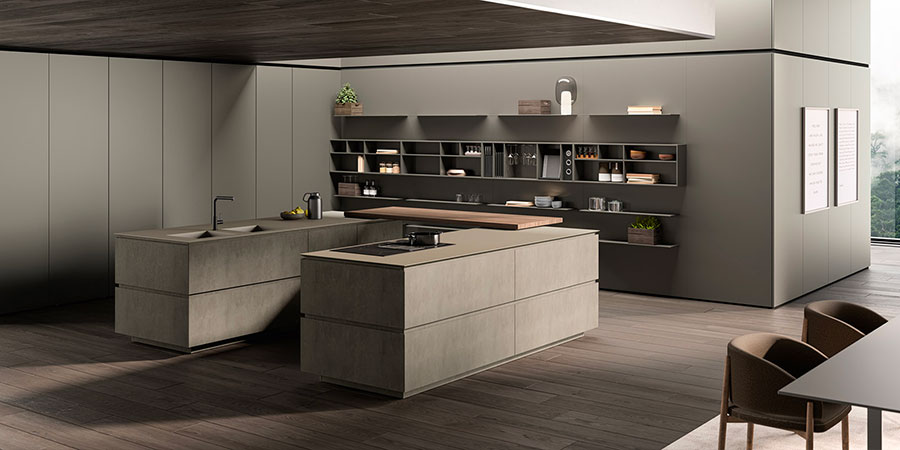 Kitchen model with open shelves n.12