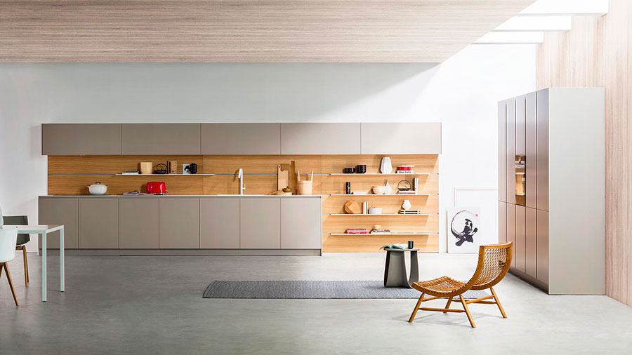 Kitchen model with open shelves n.18