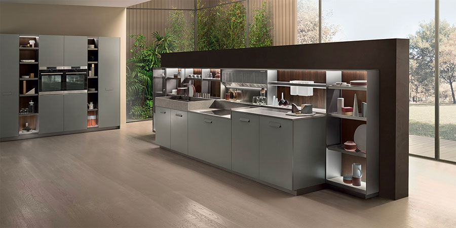 Kitchen model with open shelves n.16