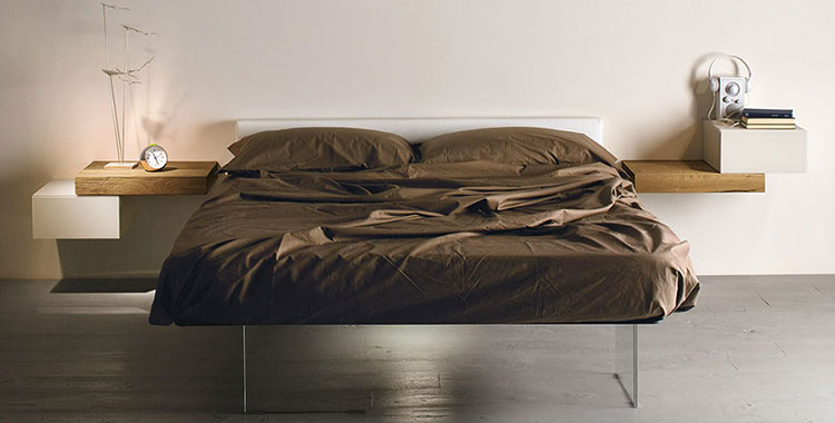 Suspended design bedside table models