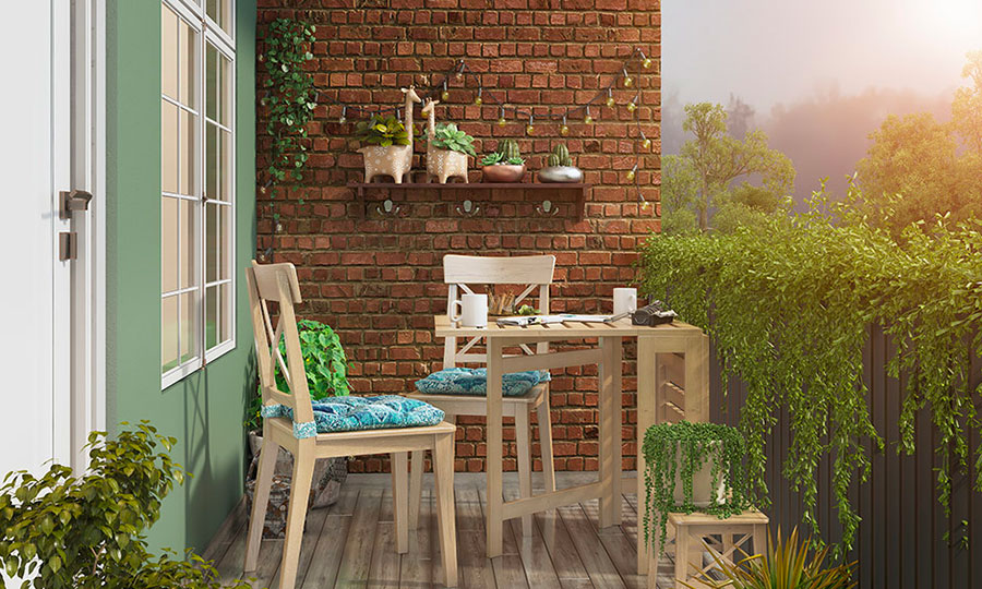 Ideas for decorating a balcony n.07