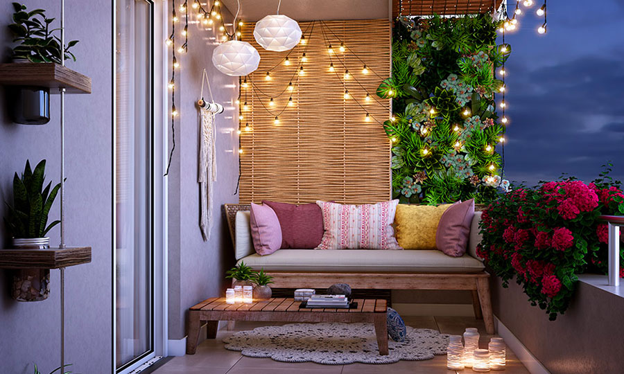 Ideas for decorating a balcony n.06