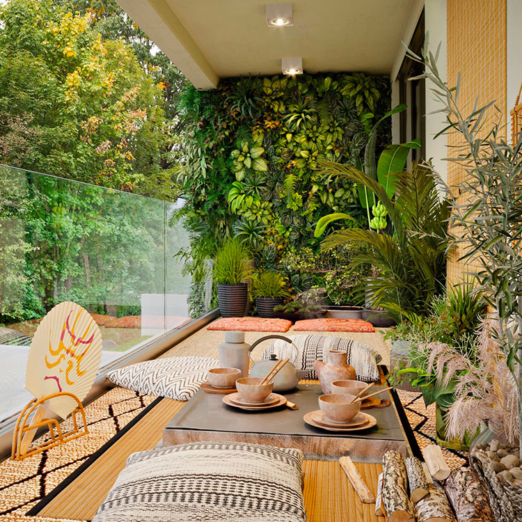 Ideas for decorating a balcony with plants n.01